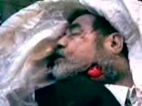 video shows saddam being taunted: