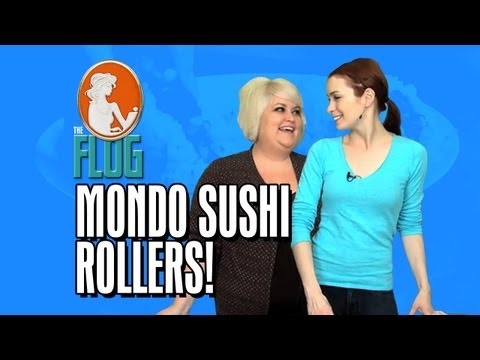 Felicia Day & Robin Thorsen Cooking Segment: Mondo Sushi Rollers! - The Flog - Ep 12