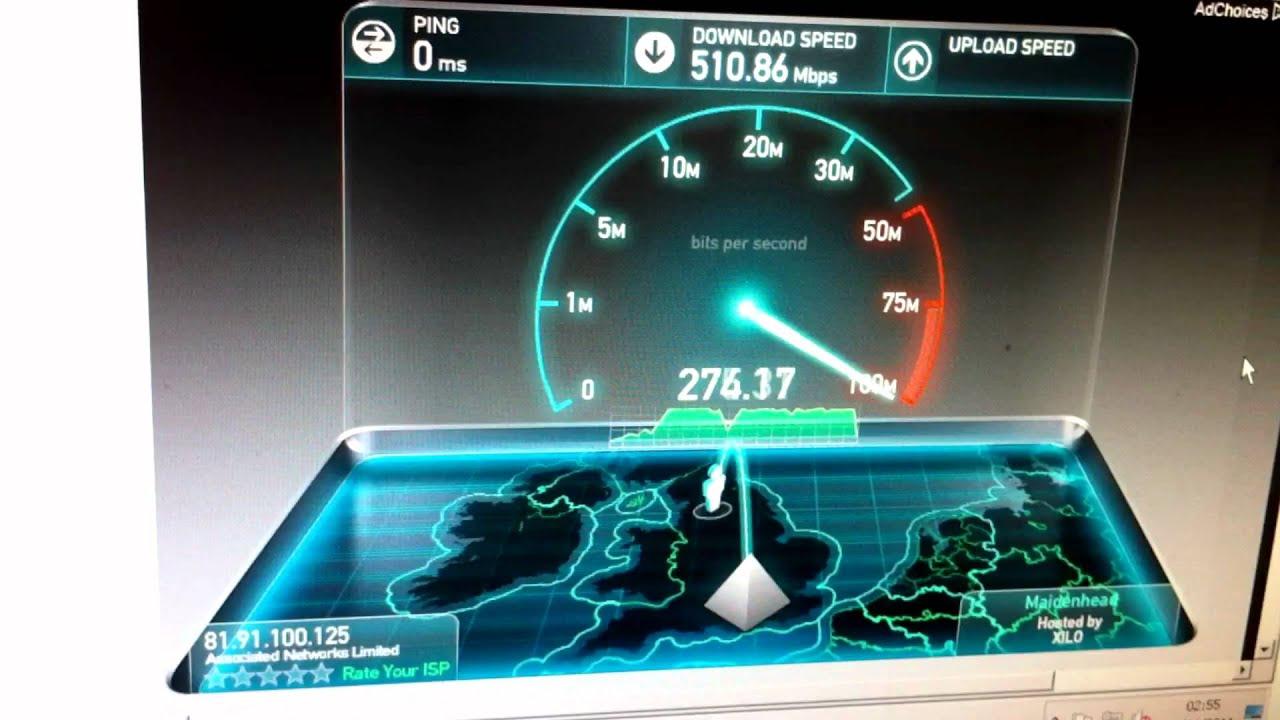 SpeedTest.net 10 Gigabit Fibre - YouTube