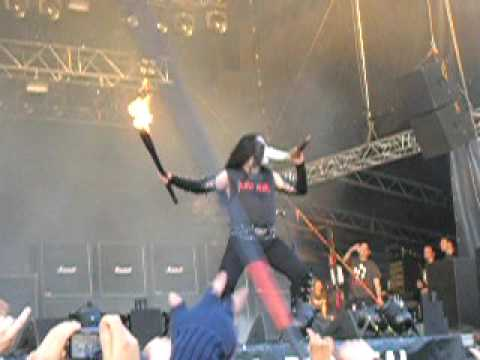 Immortal -  Abbath shooting fire @ Tuska 2009