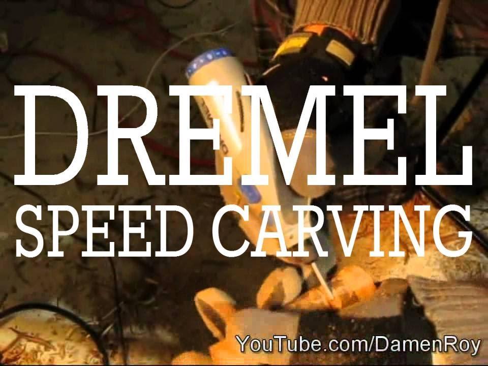 Dremel Stylus Speed Carving Wood Rose Time Lapse