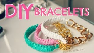 How To: DIY Cobra Braid Bracelet! MissBel01xox