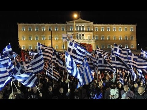 Greek Nazi Party Protests Outside Parliament
