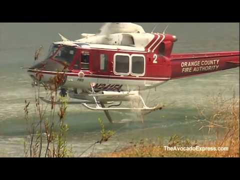 Firefighting Helicopters in Action California Fires