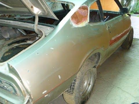Ford Maverick no Rotisserie - Jateamento Automotivo