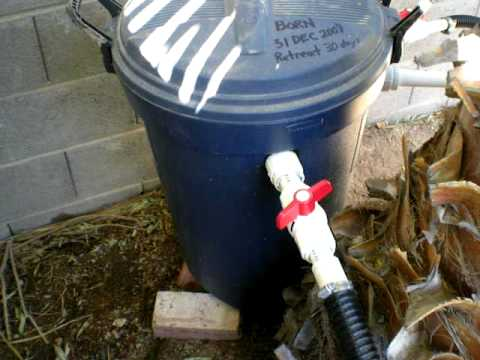 Pond homemade bio filter part 1 youtube for Diy pond filter bucket