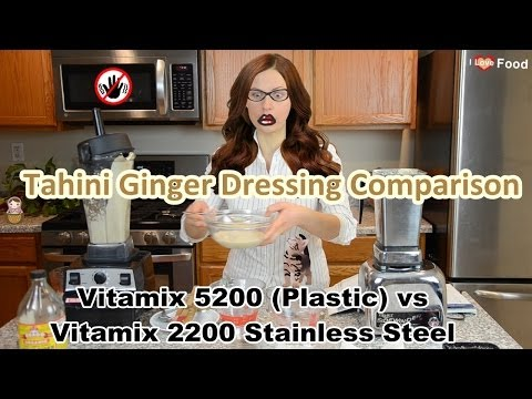 'Plastic Free' Vitamix Solution & Vitamix 5200 vs 2200 Recipe Comparison: Raw Tahini Ginger Dressing