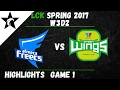 AFS vs JAG Highlights Game 1 LCK Spring W3D2 2017 Afreeca Freecs vs Jin Air Green Wings