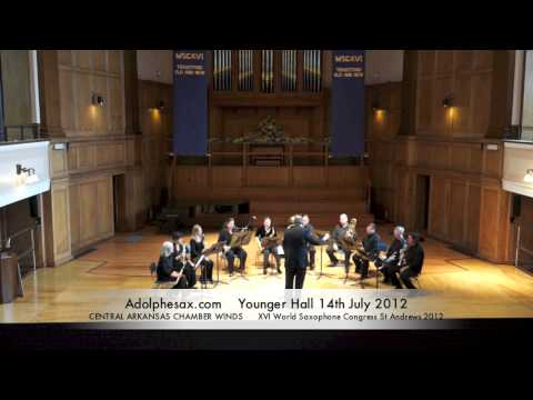 WSCXVI CENTRAL ARKANSAS CHAMBER WINDS   Double Concerto for Saxophone and Tuba by Walter S  Hartley