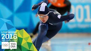 Speed Skating 500m - Min Sun Kim (KOR) wins Women's gold | Lillehammer 2016 Youth Olympic Games