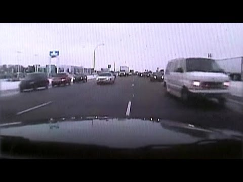 Police Chase Wrong Way on Highway