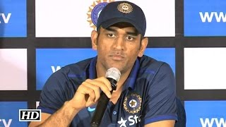 IANS - Dhoni Gets Angry At Reporter For Asking About His Retirement