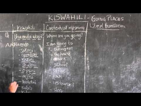 Video #8 - GO! Presents: BEST Swahili Tutorials - GOING PLACES (live from Tanzania)