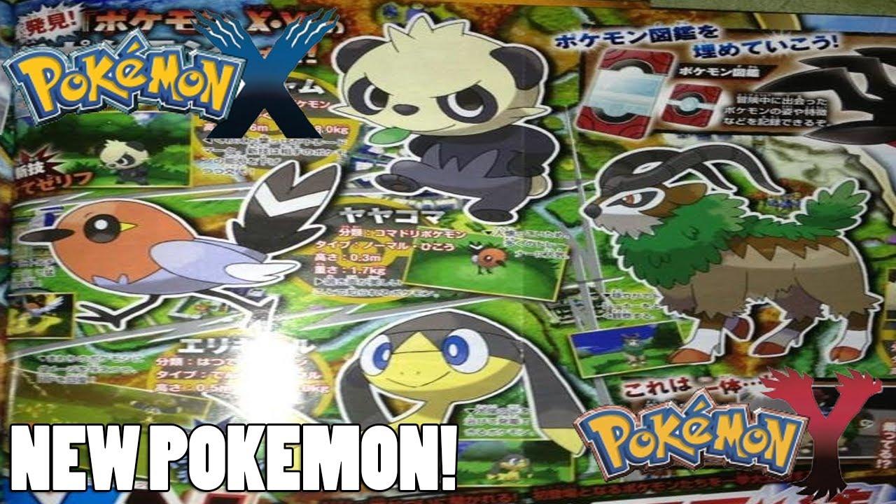 pok233mon xpok233mon y new pokemon starter info character