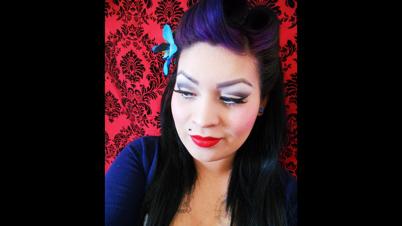 My Rockabilly Makeup tutorial - YouTube
