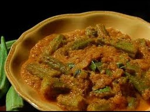 Recipe - Okra (lady finger) Curry (Telangana Special Recipe Bendakaaya Bajji) With English Subtitles