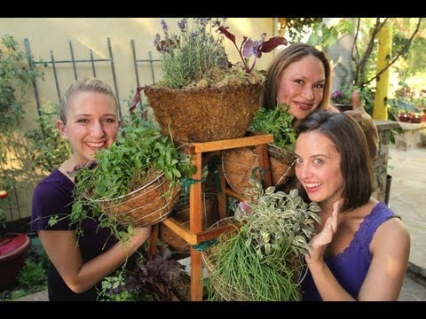 "Vertical Herb Garden That Spins and Functions Like a ""Living Spice Rack!"""