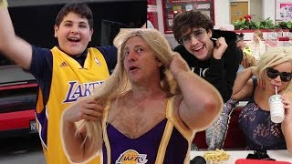 SURPRISING BROTHER WITH LAKERS TICKETS!! (EMOTIONAL)