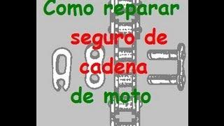 Reparar el seguro de cadena de moto