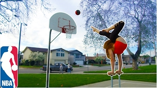 INSANE BASKETBALL TRICK SHOTS USING ONLY FEET!!!