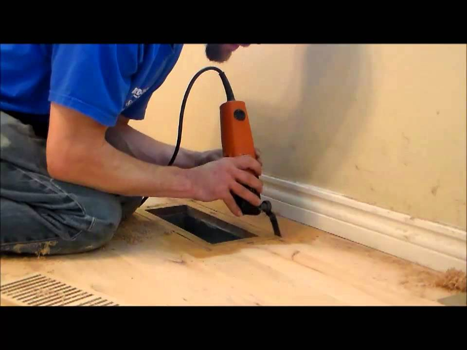 How To Install A Flush Mount Vent Into An Existing Floor