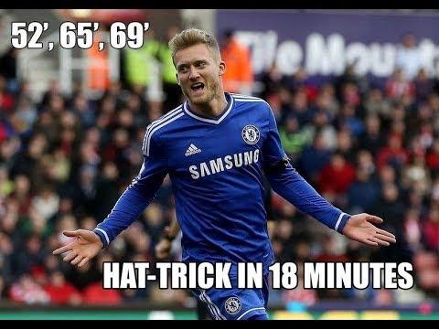 Andre Schurrle Amazing HatTrick ~ Fulham 0-3 Chelsea (Premier League) ~ 01/03/2014 HD