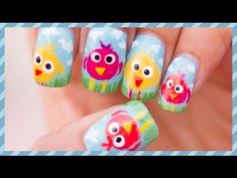 Cute Birdey Nail Art Tutorial
