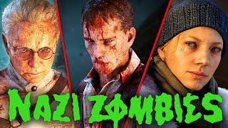 ALL WW2 ZOMBIES CUTSCENES: ALL INTROS, OUTROS & EASTER EGG ENDINGS! (WW2 Zombies Movie)