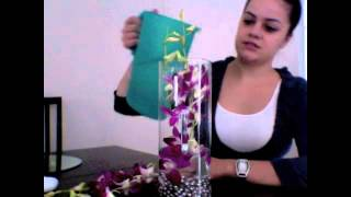 Wedding Event Orchid Flower Centerpieces (Floral