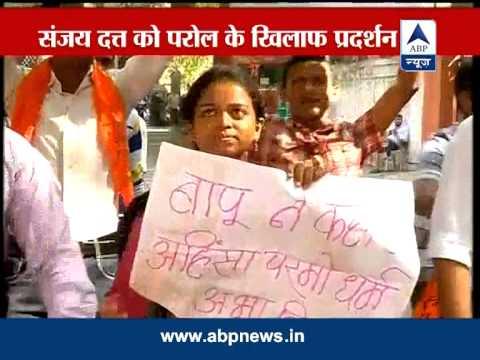 Mumbai: ABVP protests Sanjay Dutt's parole