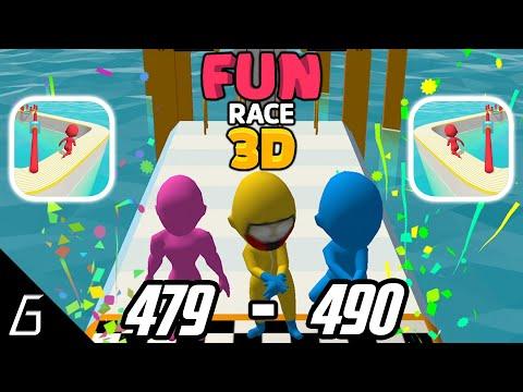 Fun Race 3D | Gameplay Walkthrough | Level 479 - 490 + Bonus (iOS, Android)