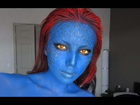 Mystique (X-men) Make-up Transformation !!!, Music : Rights owned to respectful owners... I got so many requests to do Mystique's Transformation. I thought it was the perfect timing when the New X-men F...