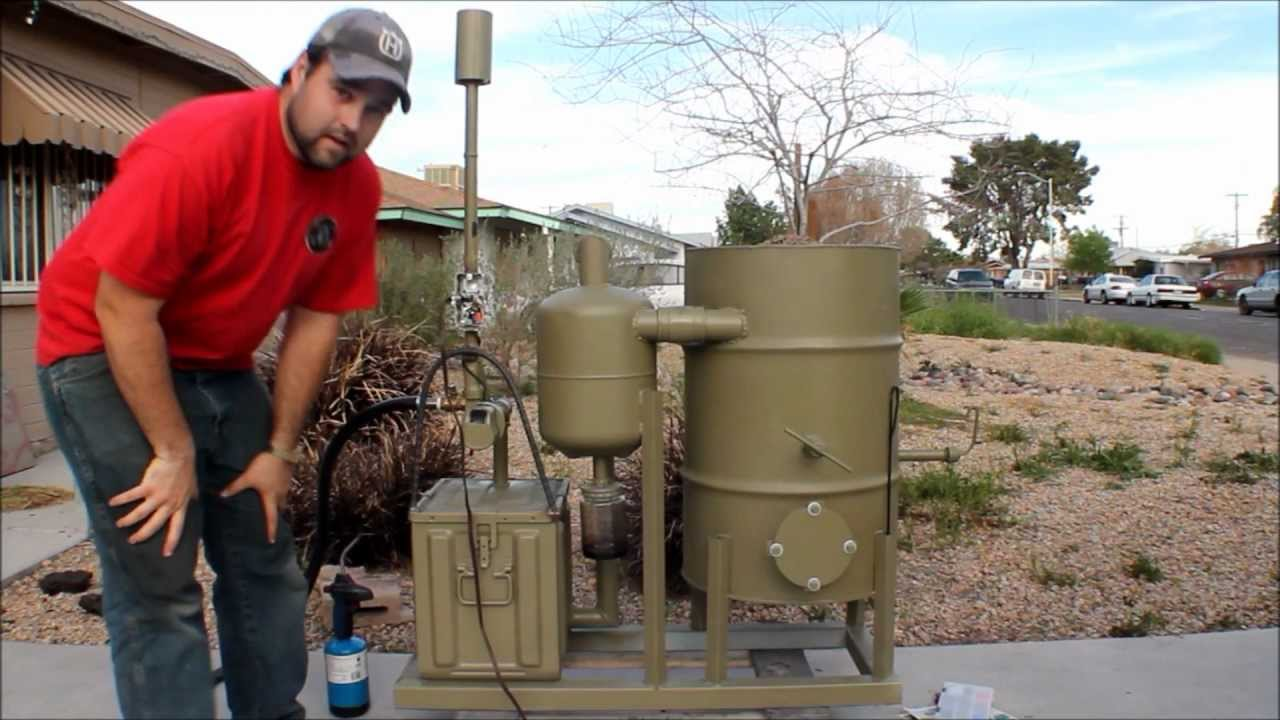 amazing homemade gasifier uses wood pellets to run generator ...