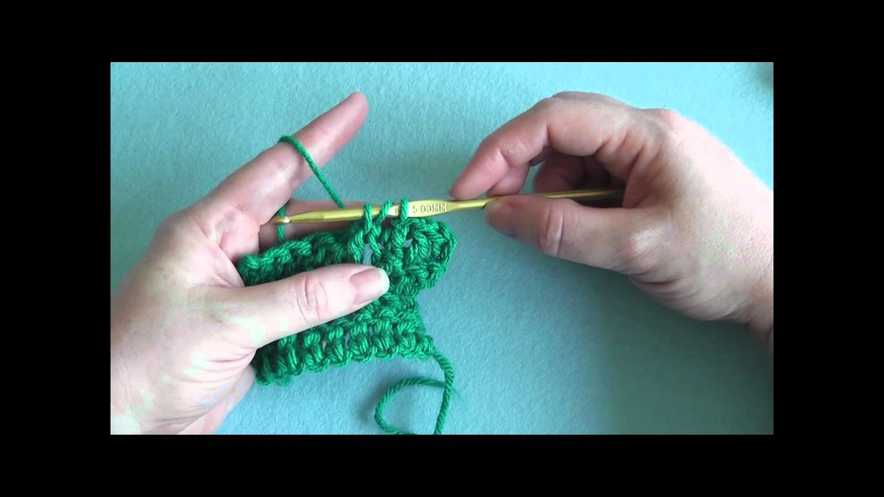 How To: Double Crochet Front Post (dcfp) - YouTube