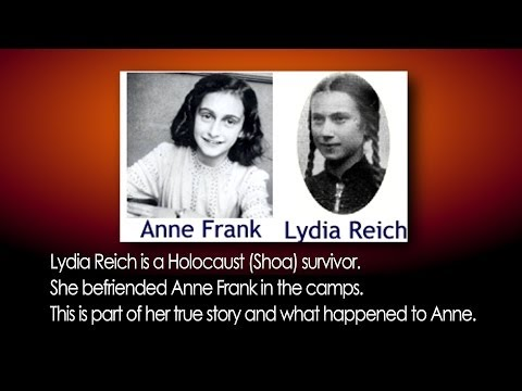 Anne Frank Holocaust Auschwitz Lydia Reich true story Concentration Camp Night Fright Brent Holland