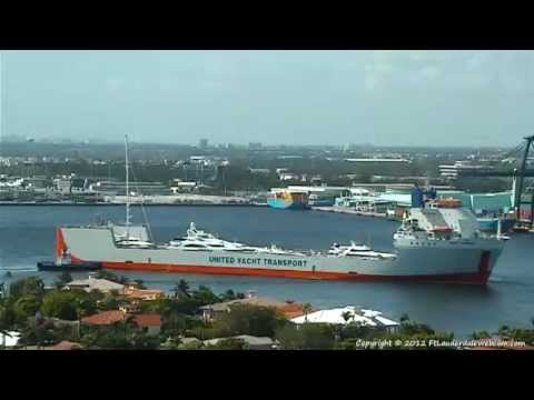 Dockwise Yacht Express Arrives at Port Everglades 9-12-2012