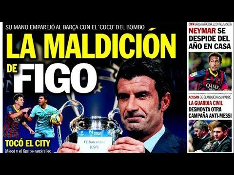 Champions League draw: 'The curse of Figo'