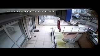 Kaza Anı Kameralara yakalandı