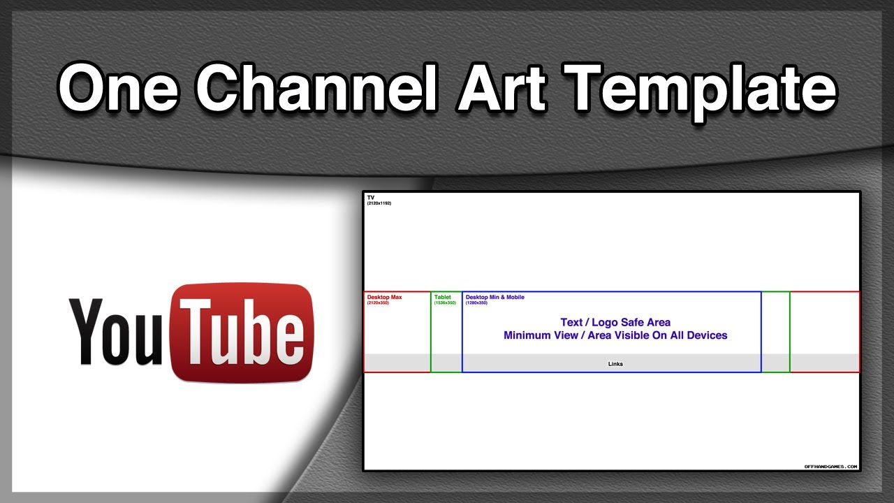 Youtube One Channel - Art Template