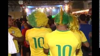 O Brasil ganhou Camarões por 4 a 1. Festa garantida no país inteiro. Na Fun Fest, no Expominas, em Belo Horizonte, muito samba no pé.