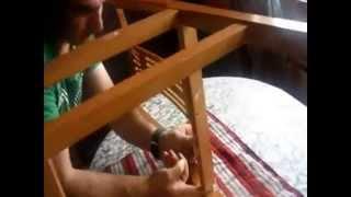 Arreglar una silla sin herramientas