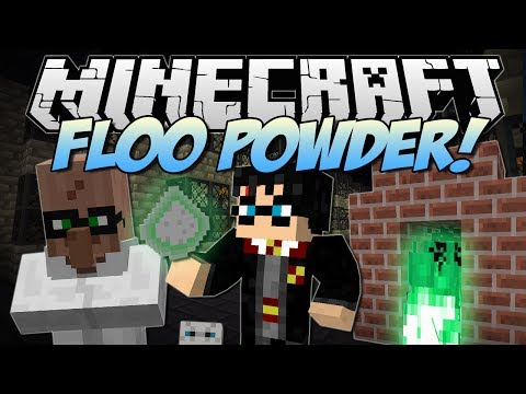 Minecraft | FLOO POWDER! (Harry Potter Teleportation!) | Mod Showcase