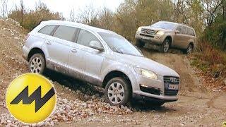 Audi Q7 3.0 TDI vs. Mercedes GL 320 CDI: Dicke Premium-SUVs im Vergleich videos