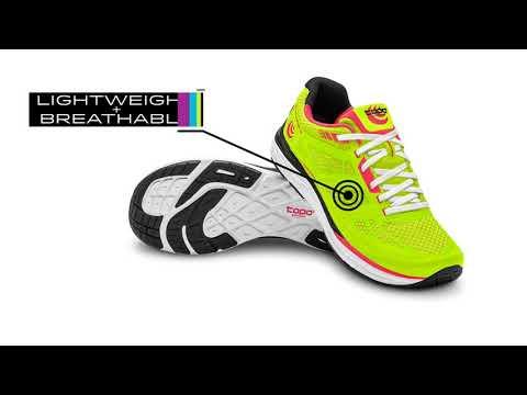 Topo  Fli-Lyte 2 Womens Low Drop & Wide Toe Box Road Running Shoes Coral/Aqua