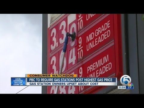 Palm Beach Co. to require gas stations to post credit prices