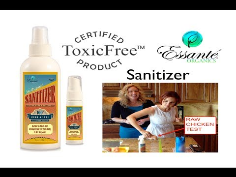 100% Toxic-Free Disinfectant - Essante Organics Sanitizer For Body & Home Contamination Test