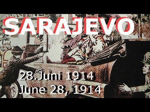 100 years ago - Vor 100 Jahren: 28.06.1914, June 28 1914 Sarajevo Attentat / assassination WW1 /1.WK