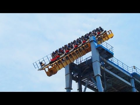 Gravity Max OMFG Tilt Roller Coaster POV Seriously Messed Up AWESOME Ride! 搶救地心
