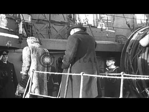 Prime Minister Winston and Lady Churchill with Lord and Lady Halifax seen with HM...HD Stock Footage