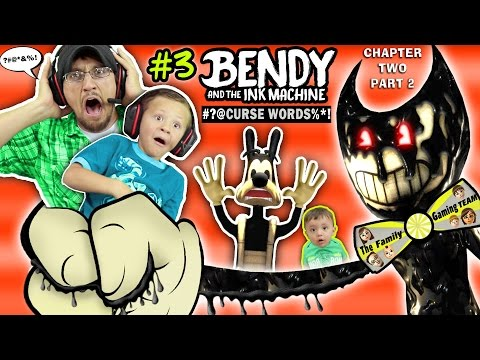 DAD CAPTURED Bendy and the Ink Machine 3 Haunts Our House FGTEEV Chapter 2 Boss 👹 SCARY Kids Game